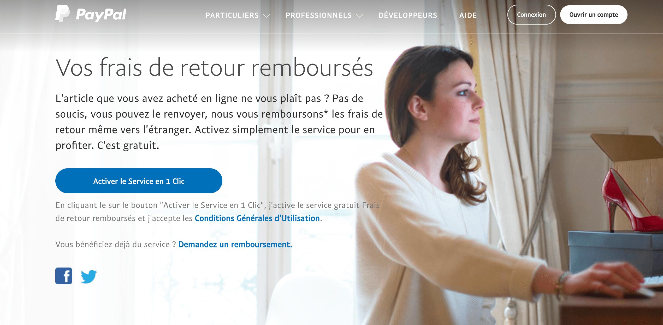 PayPal: saviez-vous qu'il est possible de vous faire rembourser les frais de retour?